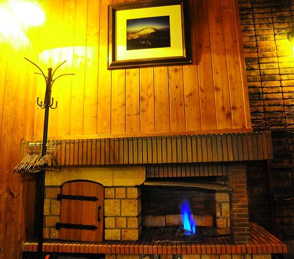 天然ガスの暖炉