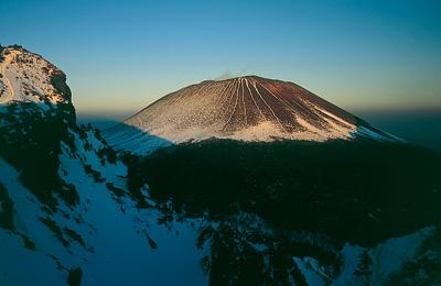 トーミの口から見た冬の浅間山