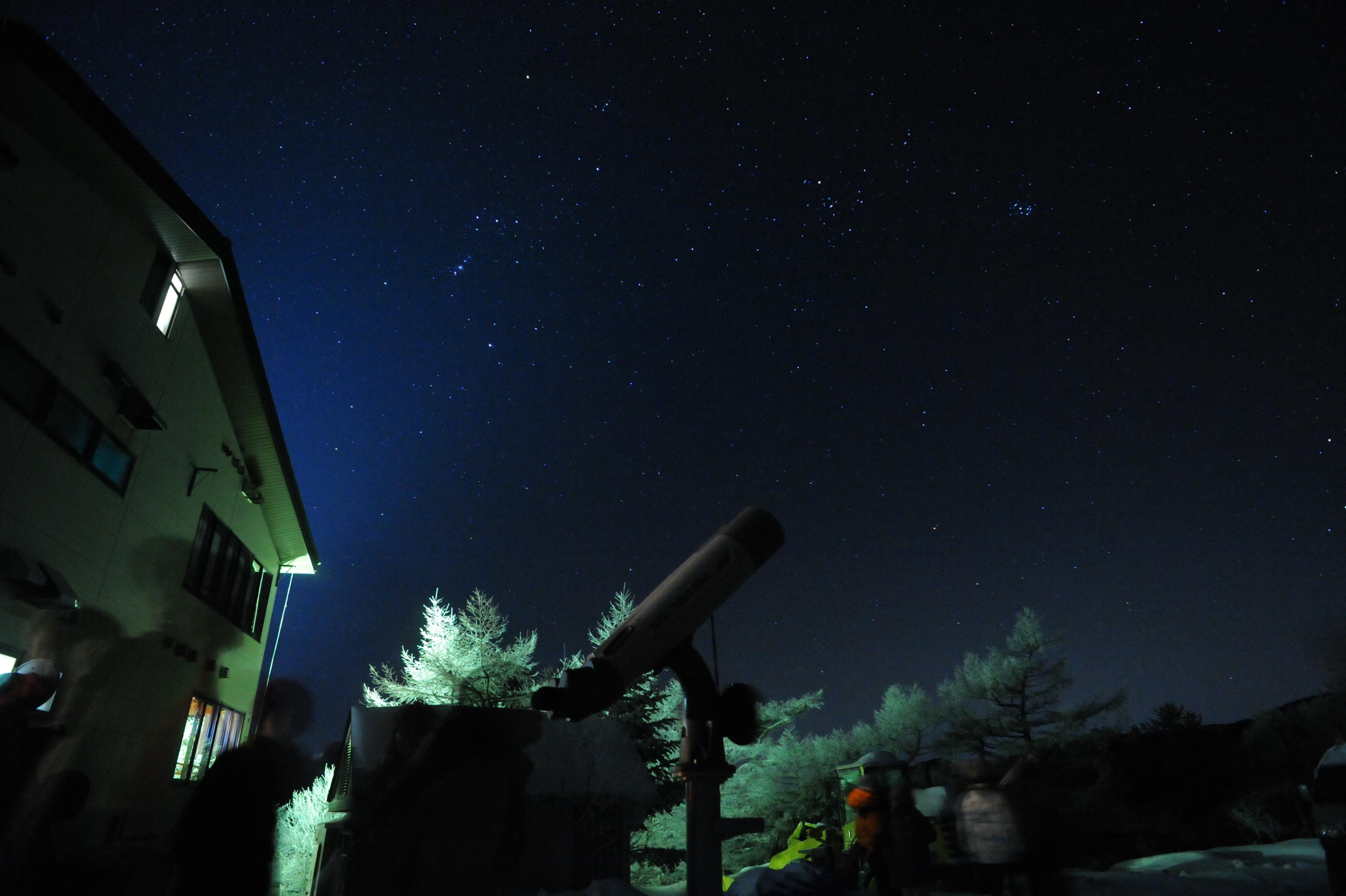 望遠鏡と霧氷 039